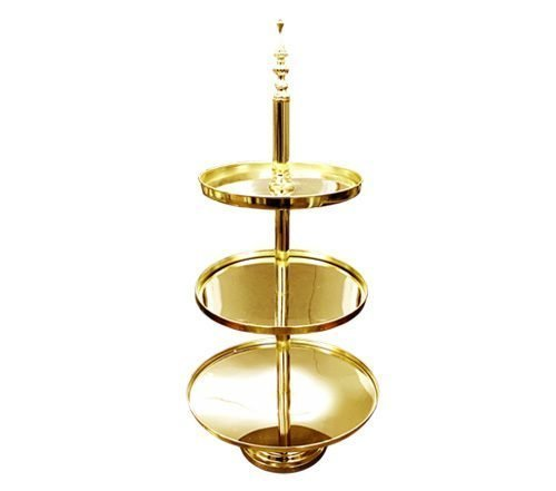 Gold Mirrored Three Tier Cake Stand