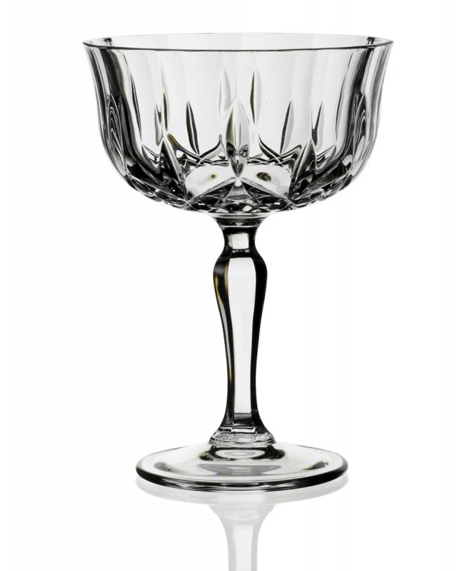 Crystal Cut Champagne Saucers
