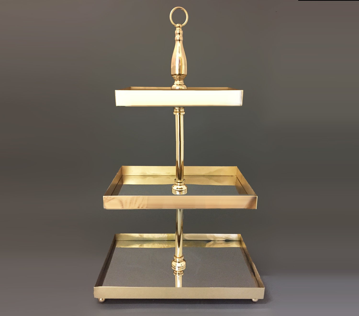 Gold Mirrored Three Tier Cake Stand The High Tea