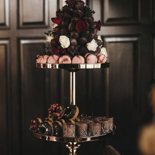 Gold Mirrored Two Tier Cake Stand